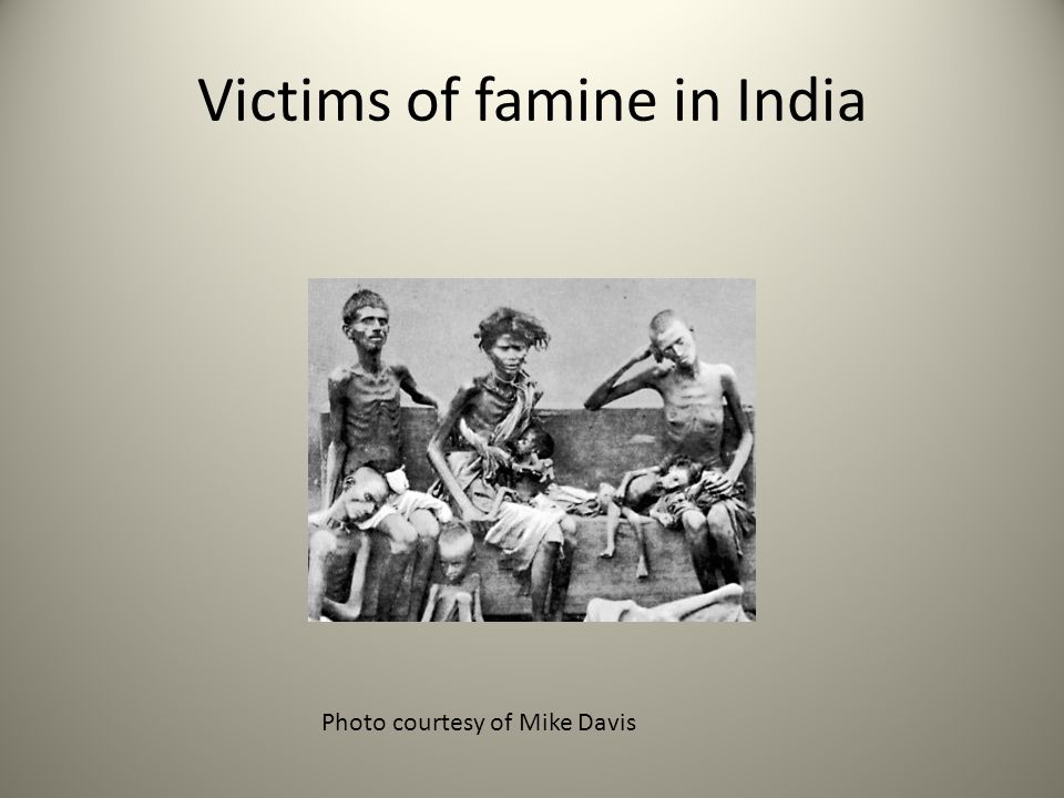 Victims of famine in India