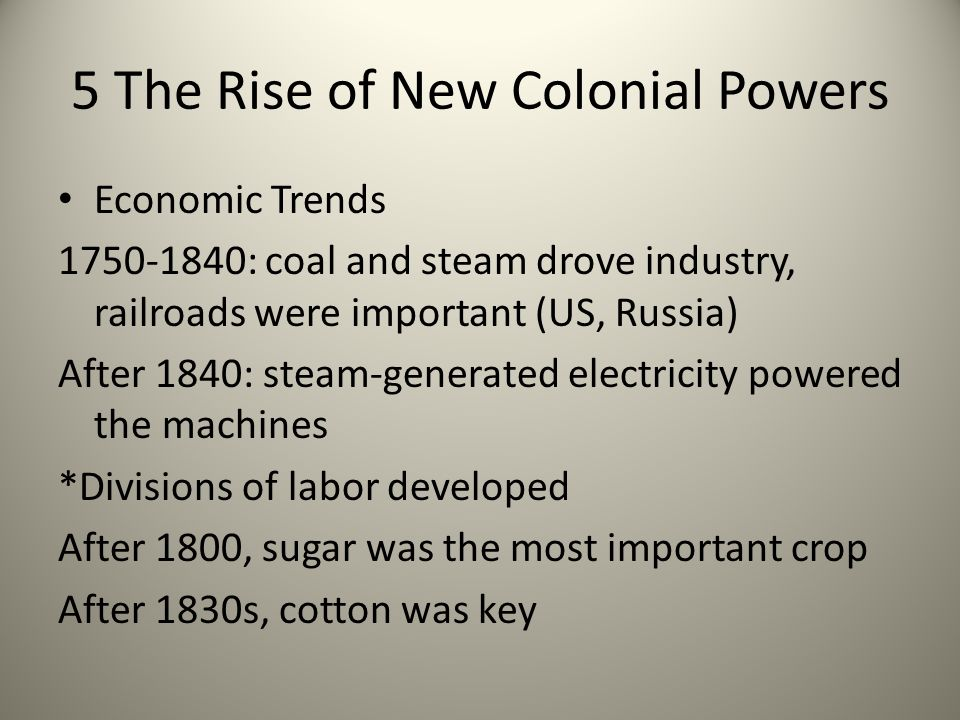 5 The Rise of New Colonial Powers