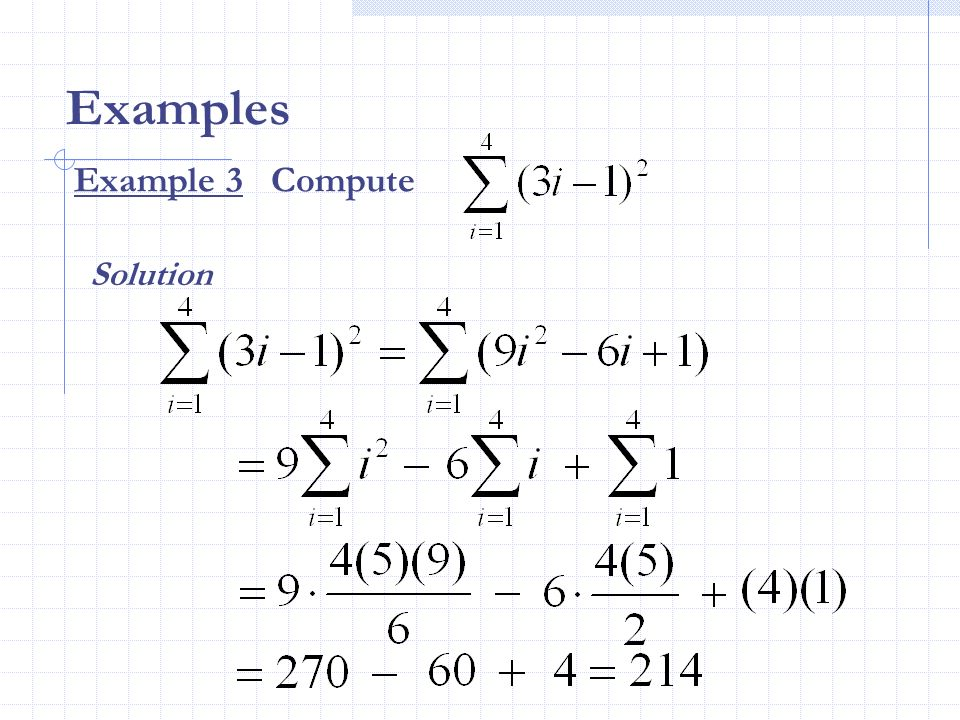 Examples Example 3 Compute Solution