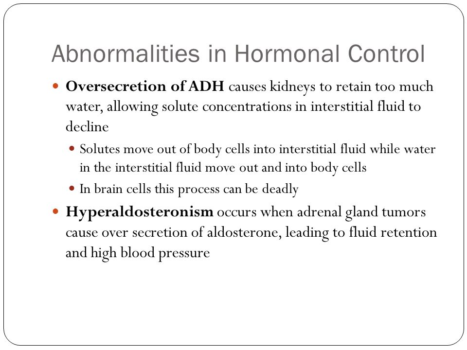 Abnormalities in Hormonal Control