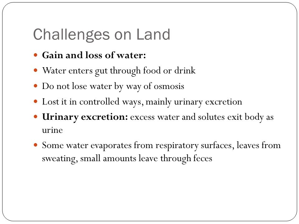 Challenges on Land Gain and loss of water: