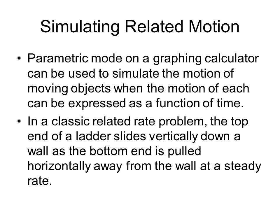 Simulating Related Motion