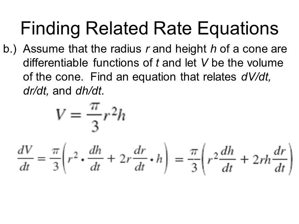 Finding Related Rate Equations
