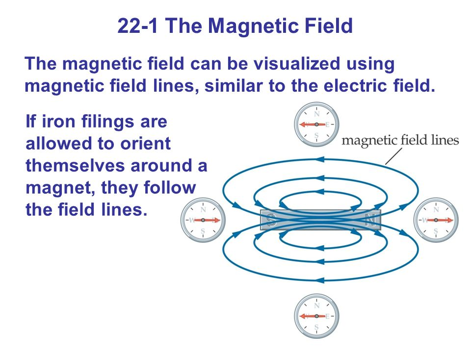 22-1 The Magnetic FieldThe magnetic field can be visualized using magnetic field lines, similar to the electric field.