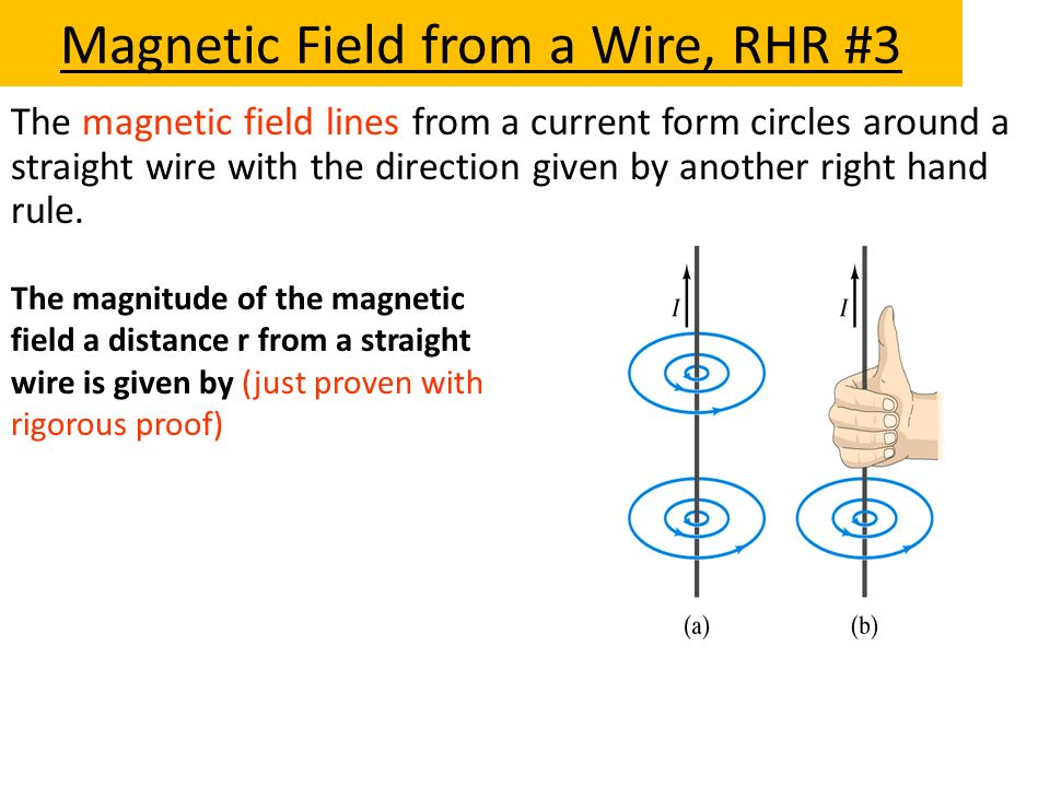 Magnetic Field from a Wire, RHR #3
