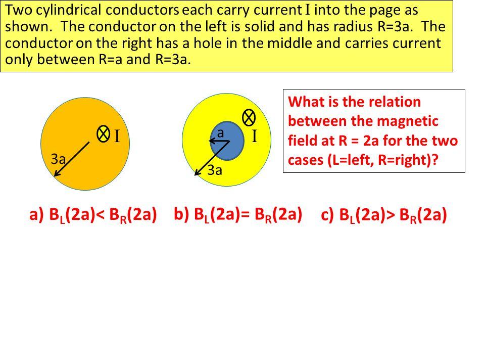 I I a) BL(2a)< BR(2a) b) BL(2a)= BR(2a) c) BL(2a)> BR(2a)
