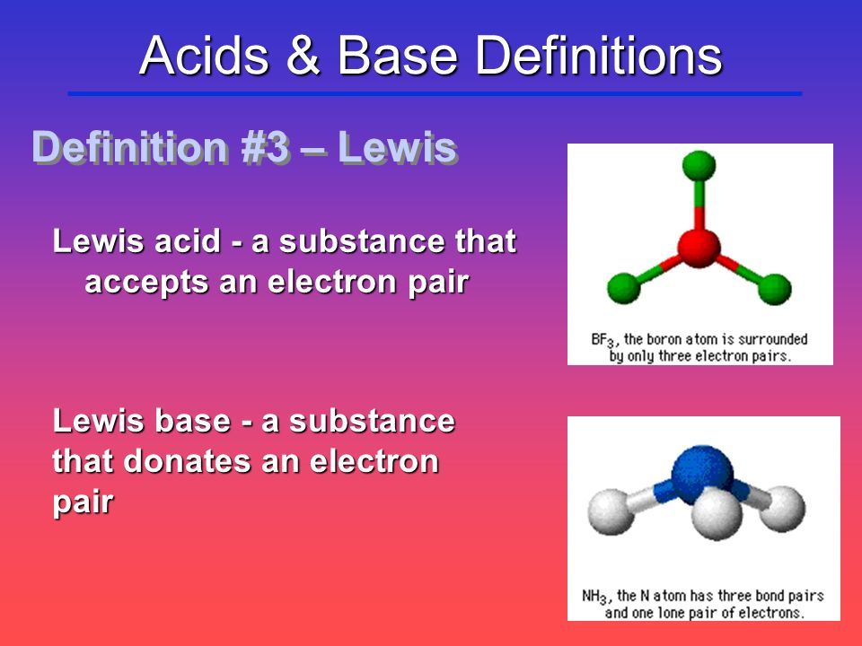 Acids & Base Definitions