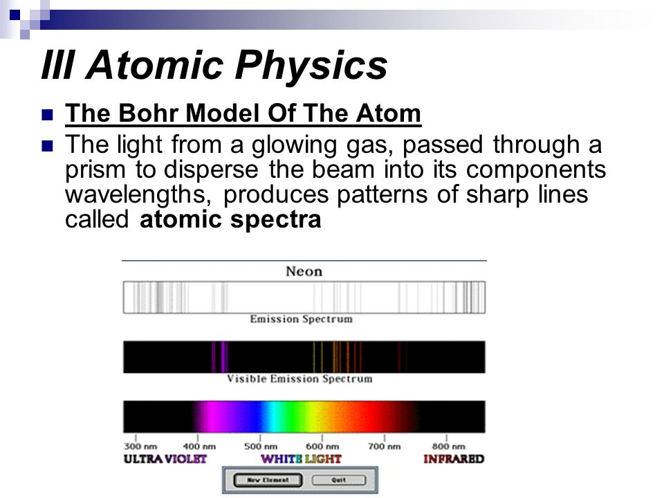 III Atomic Physics The Bohr Model Of The Atom