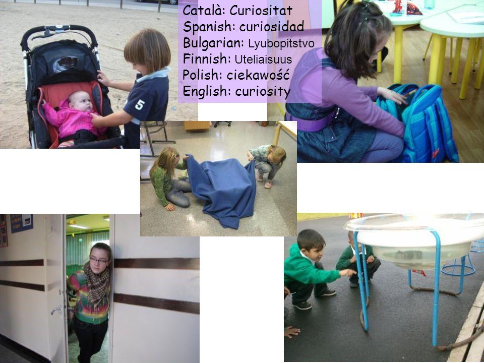 Català: Curiositat Spanish: curiosidad. Bulgarian: Lyubopitstvo. Finnish: Uteliaisuus. Polish: ciekawość.