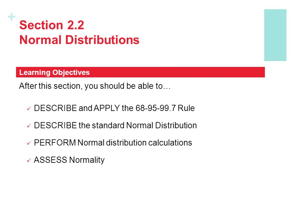 Section 2.2 Normal Distributions