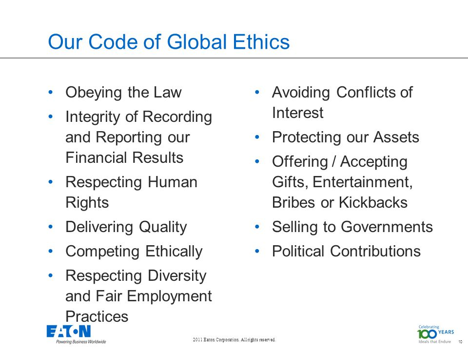 Our Code of Global Ethics