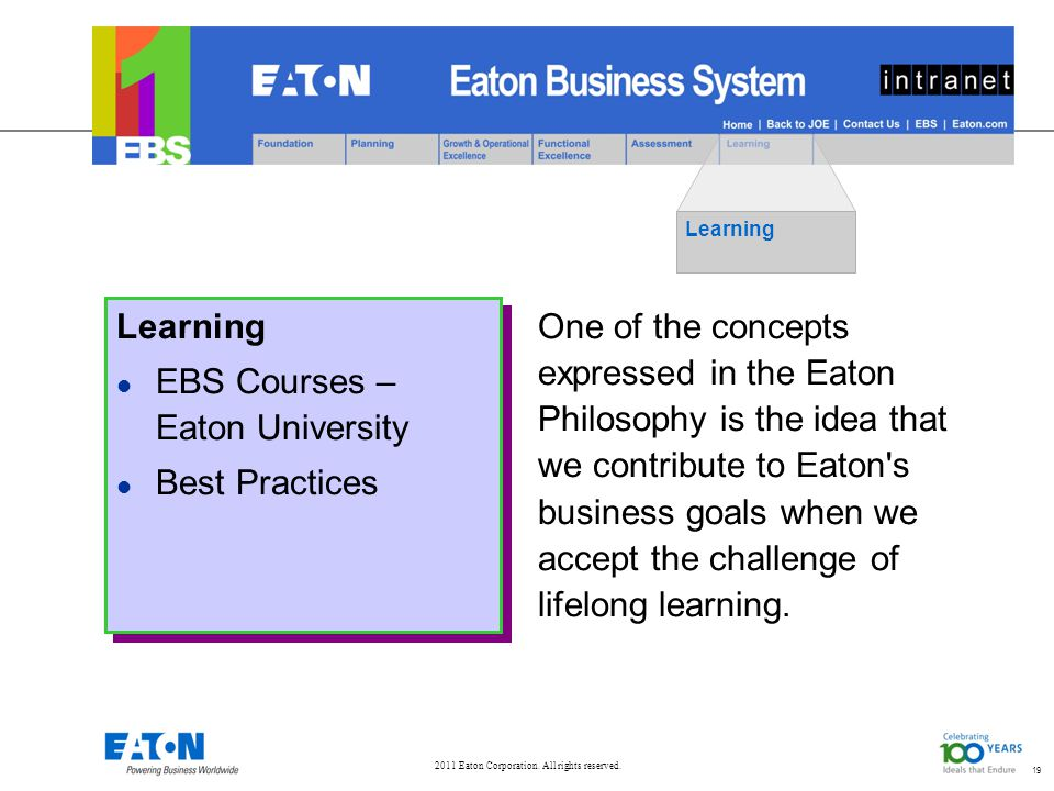19 Learning EBS Courses – Eaton University Best Practices
