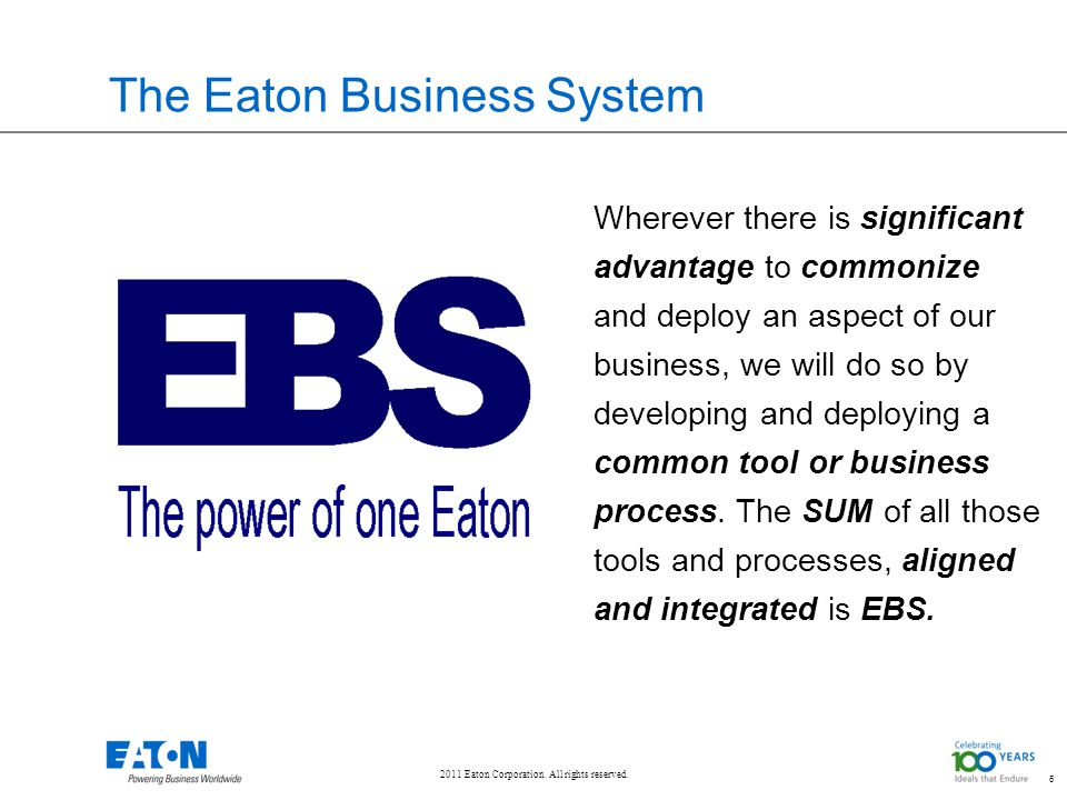 The Eaton Business System