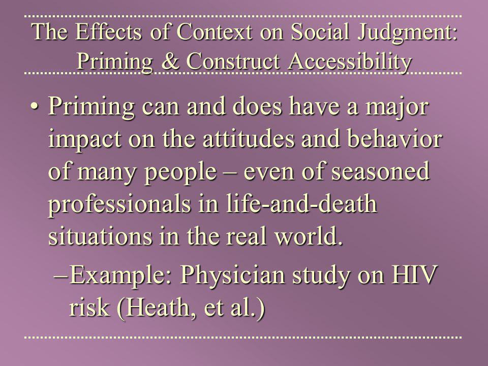 Example: Physician study on HIV risk (Heath, et al.)