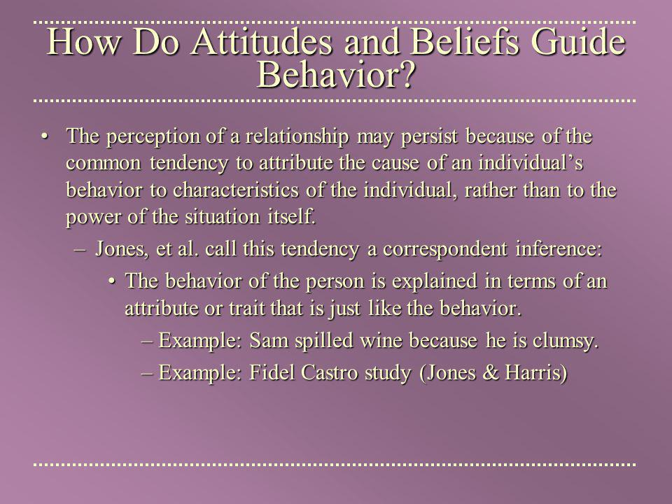 How Do Attitudes and Beliefs Guide Behavior