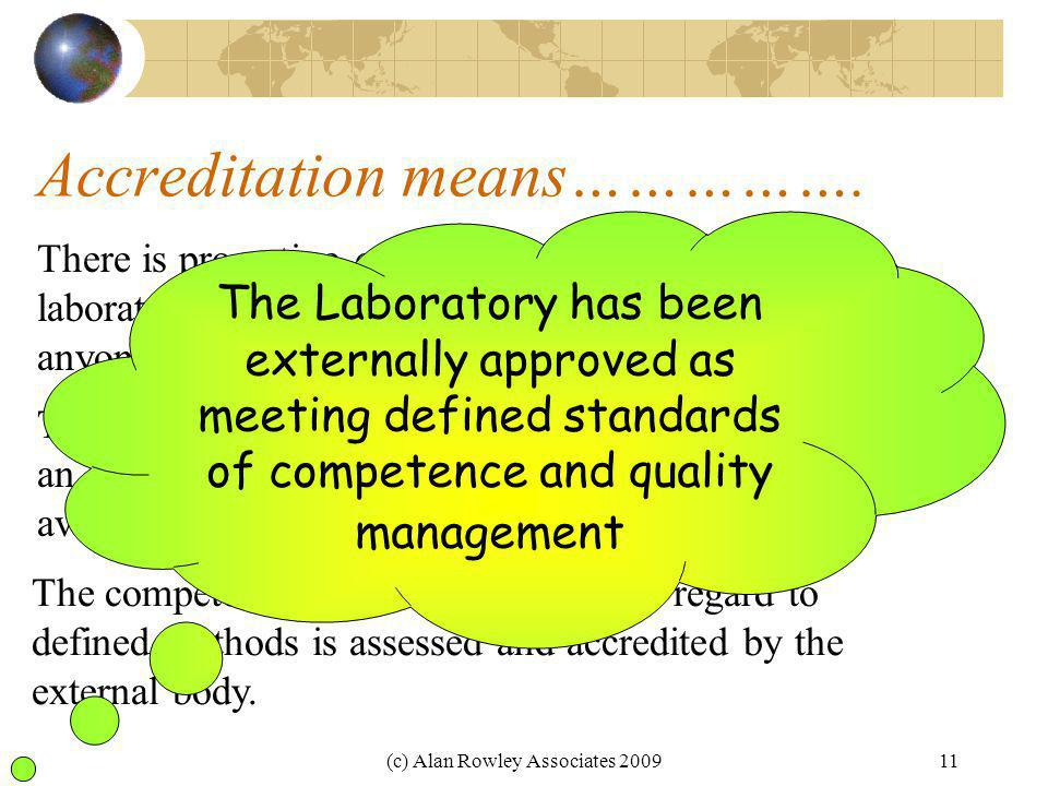 Accreditation means…………….