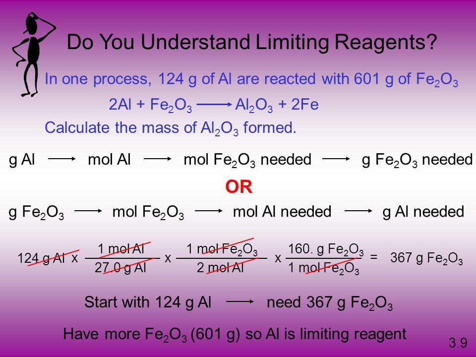 Do You Understand Limiting Reagents