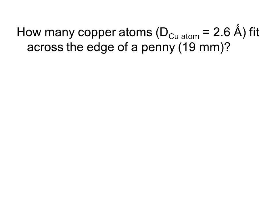 How many copper atoms (DCu atom = 2