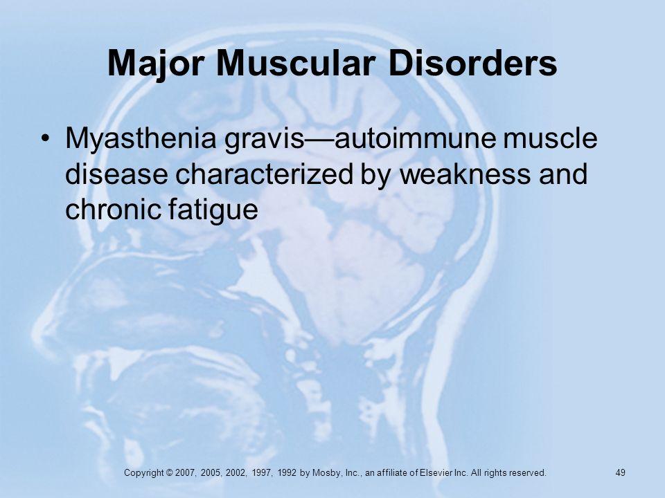 Major Muscular Disorders
