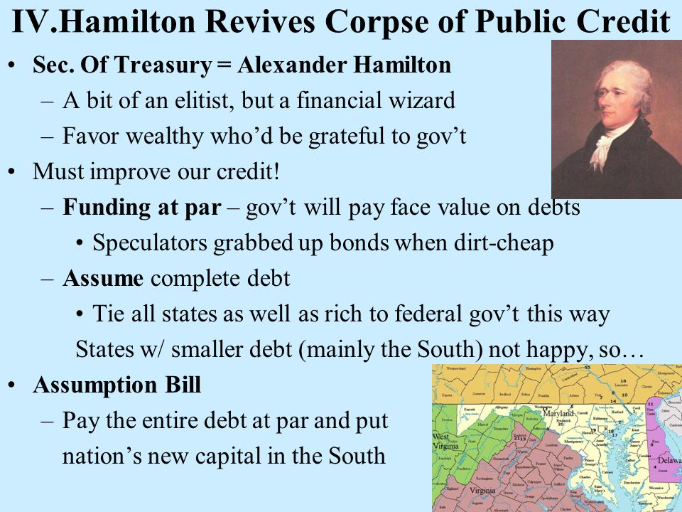 IV.Hamilton Revives Corpse of Public Credit