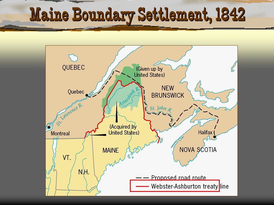 Maine Boundary Settlement, 1842
