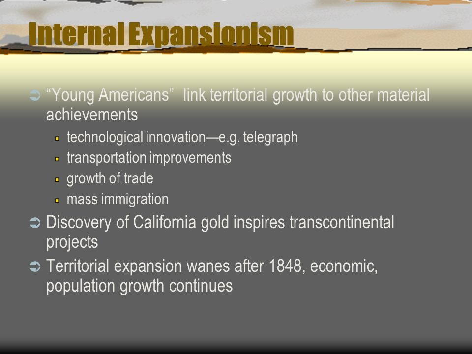Internal Expansionism