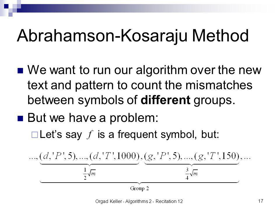 Orgad Keller - Algorithms 2 - Recitation 12