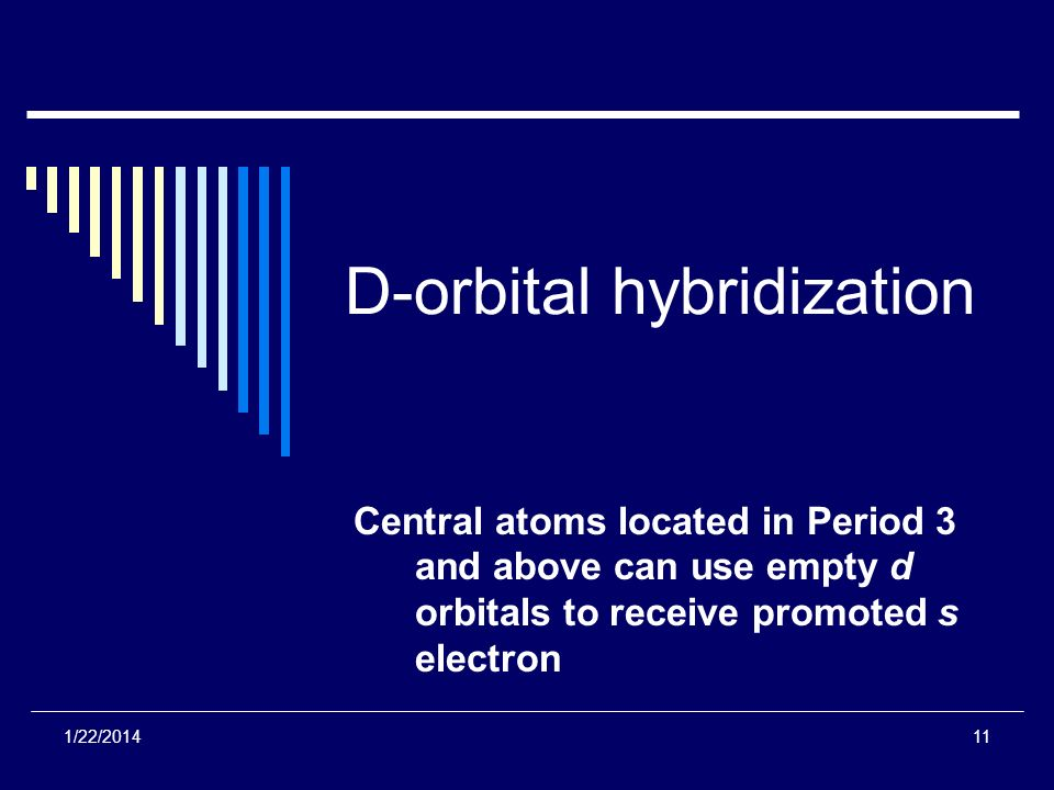 D-orbital hybridization