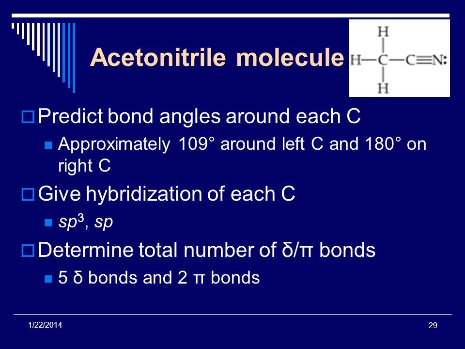 Acetonitrile molecule