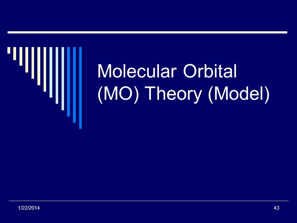 Molecular Orbital (MO) Theory (Model)