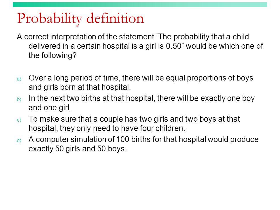 Probability definition