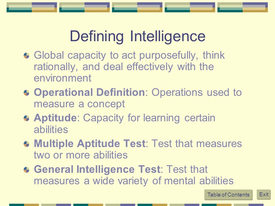 intlligence defnition and measure Emotional intelligence in 1990, in my role as a science reporter at the new york  times, i chanced upon an article in a small academic journal by two.