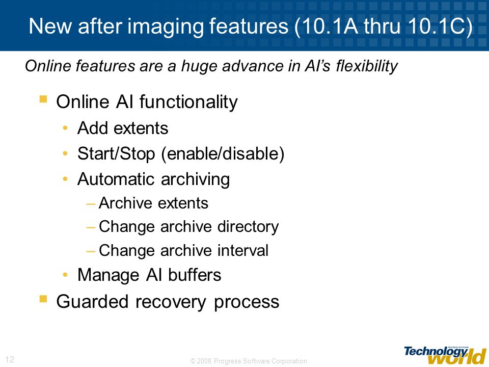 New after imaging features (10.1A thru 10.1C)