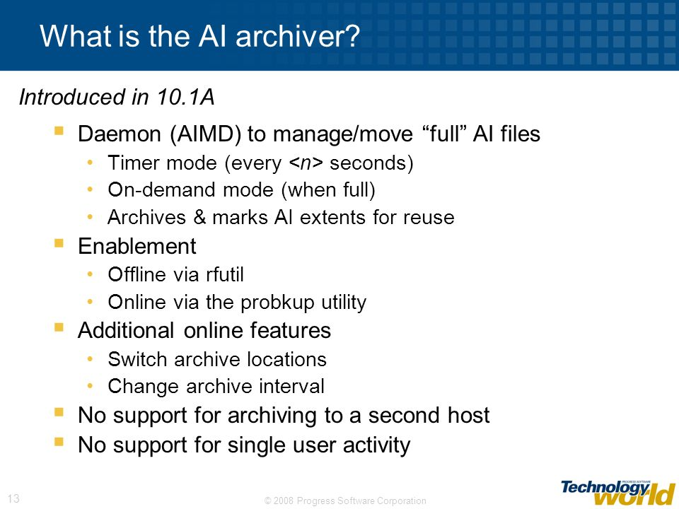 What is the AI archiver Introduced in 10.1A