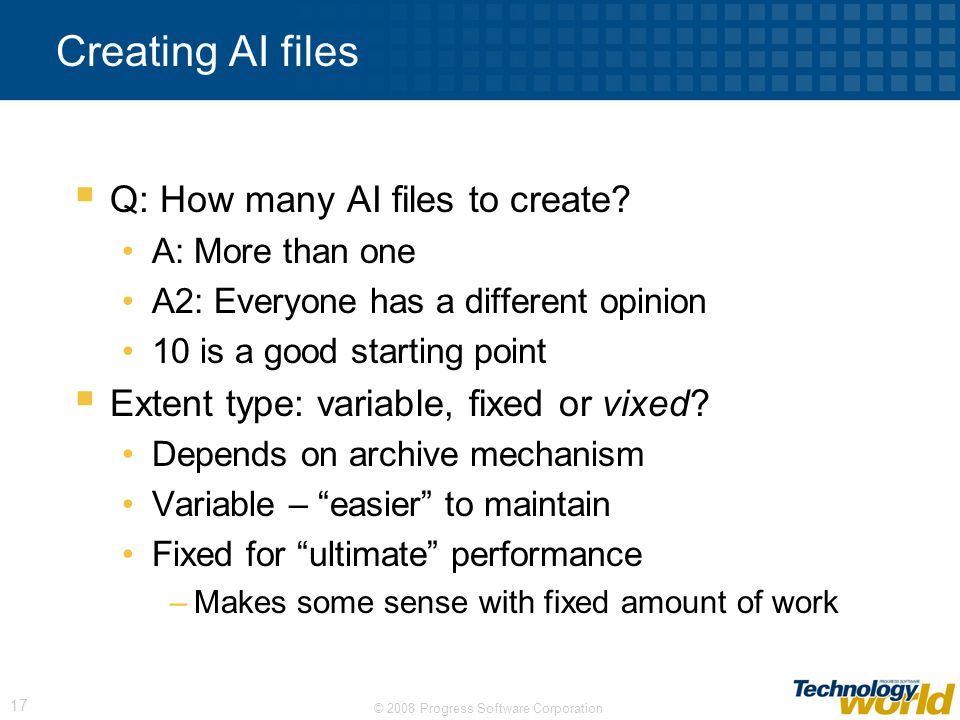Creating AI files Q: How many AI files to create