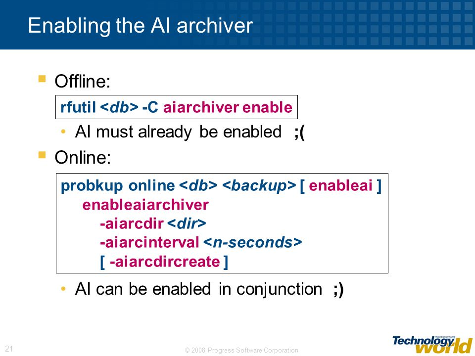 Enabling the AI archiver