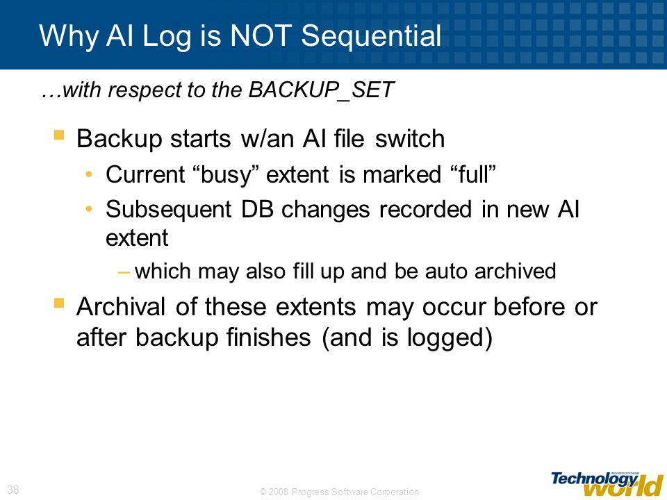 Why AI Log is NOT Sequential