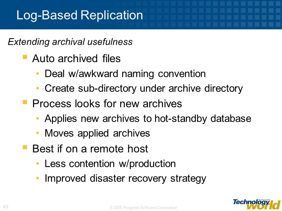 Log-Based Replication
