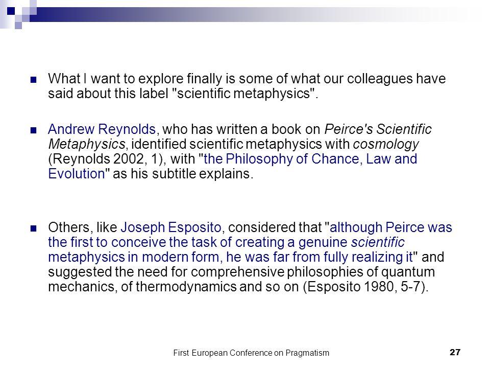 First European Conference on Pragmatism