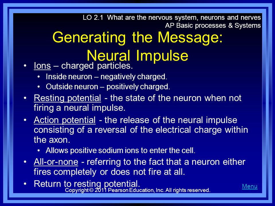 Generating the Message: Neural Impulse