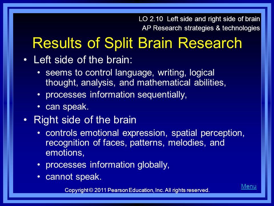 Results of Split Brain Research