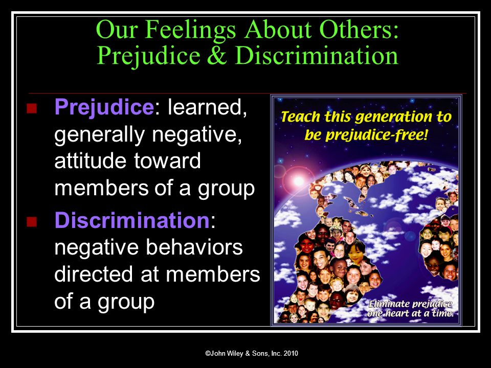 Our Feelings About Others: Prejudice & Discrimination