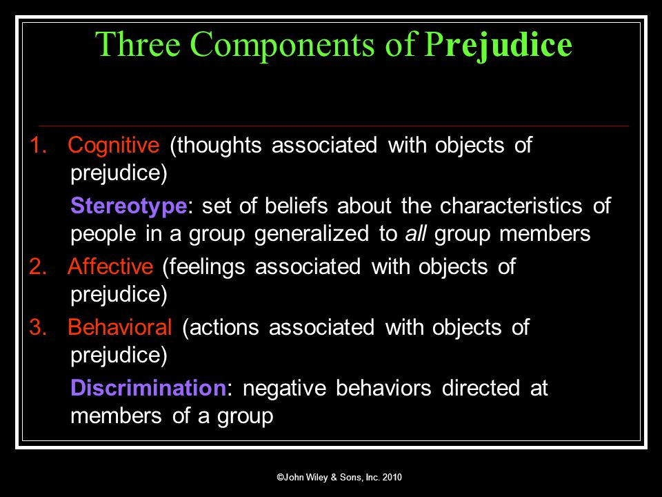 Three Components of Prejudice