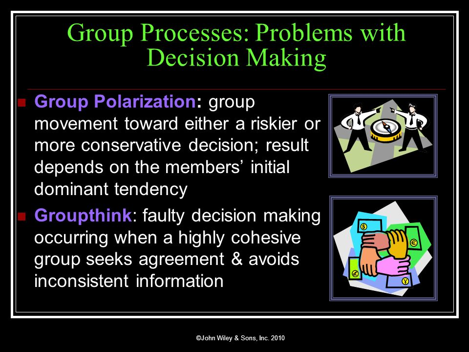 Group Processes: Problems with Decision Making