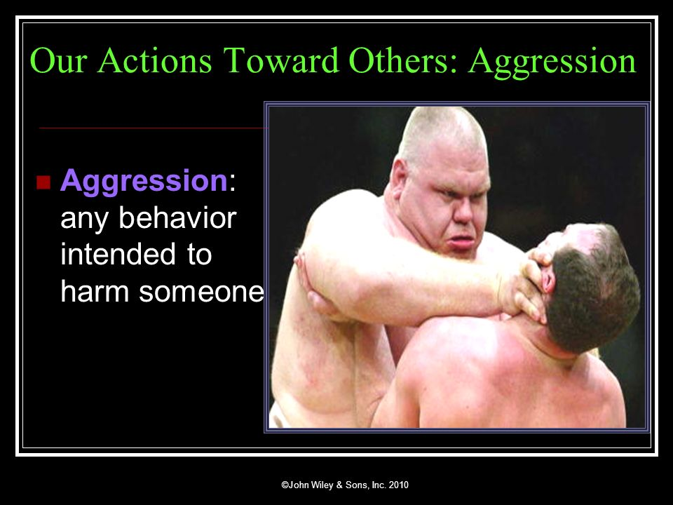 Our Actions Toward Others: Aggression