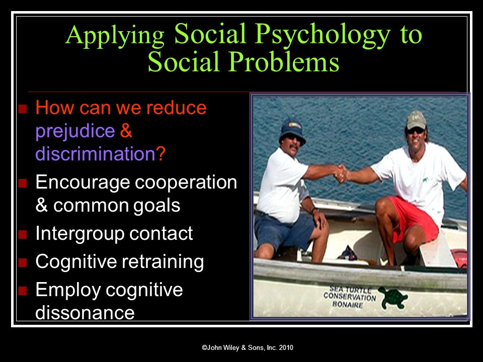 Applying Social Psychology to Social Problems