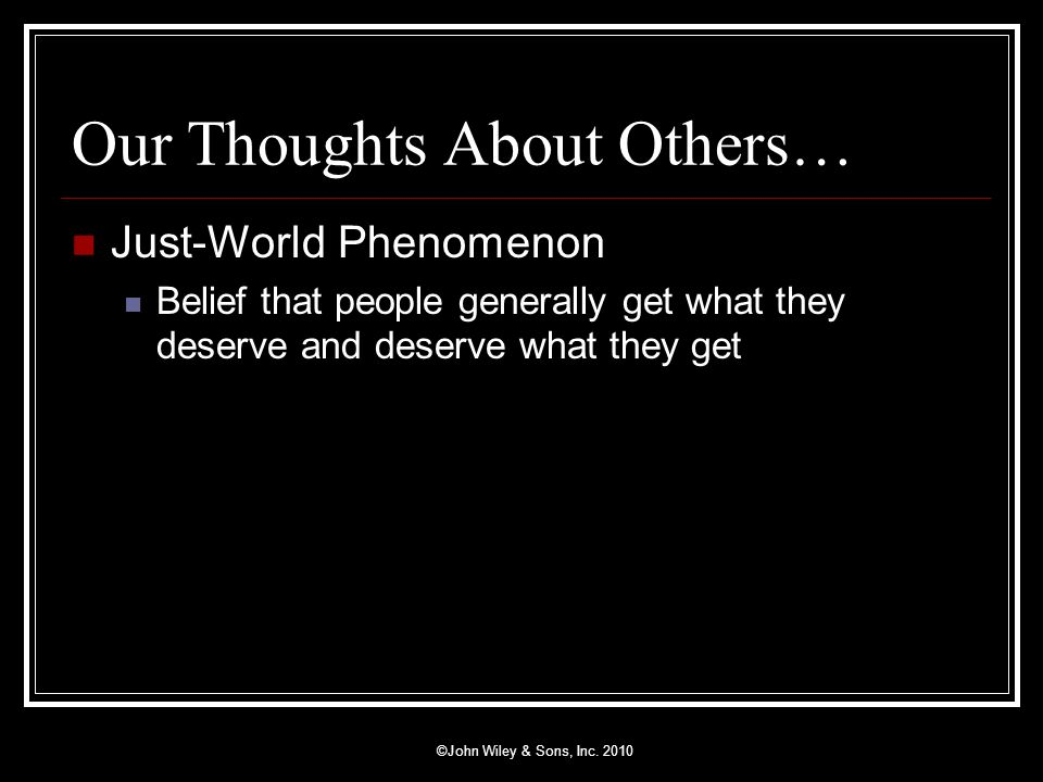 Our Thoughts About Others…