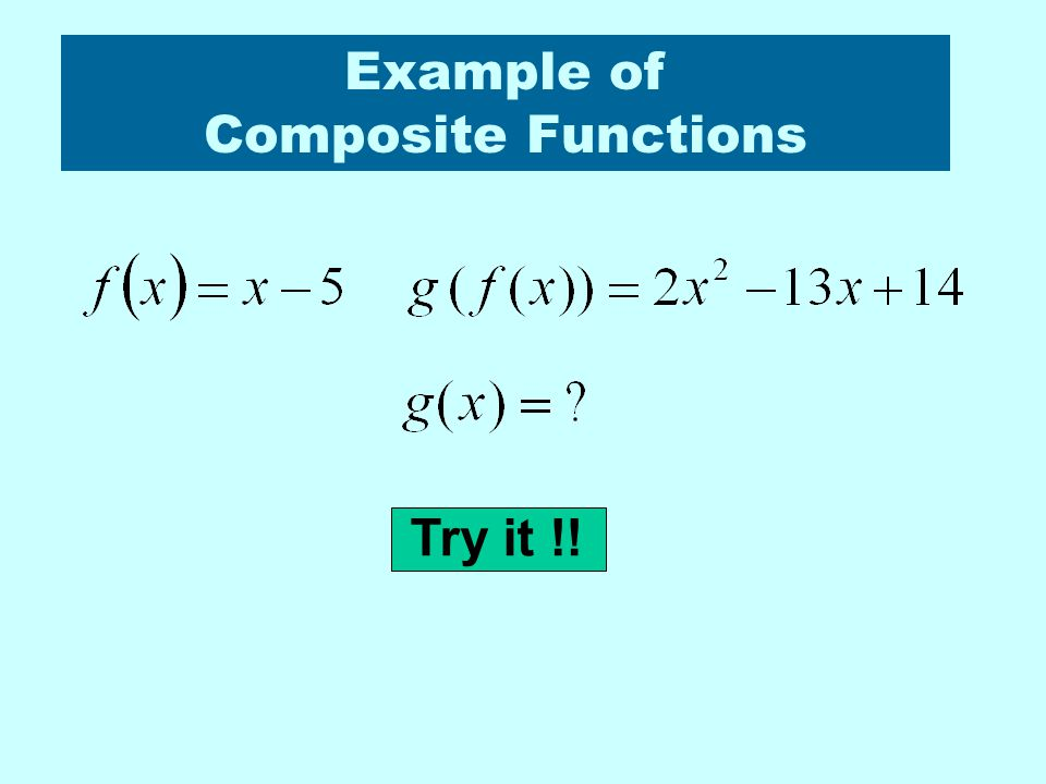 Example of Composite Functions