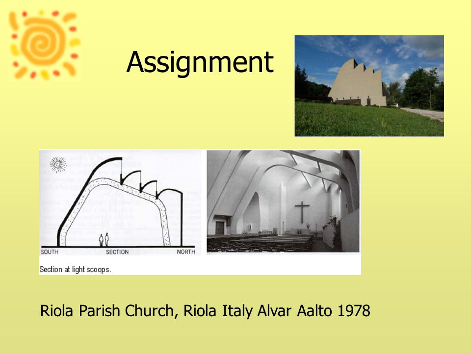 Assignment Riola Parish Church, Riola Italy Alvar Aalto 1978