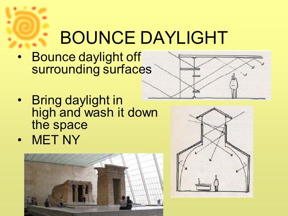 BOUNCE DAYLIGHT Bounce daylight off surrounding surfaces